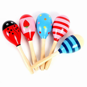 GOGO Big Colorful Maracas, Party Suppliers, Price/Dozen