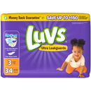 Luvs 586928 Diaper Jumbo Pack Size 3 4-34 Count
