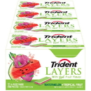 Trident 586953 Layers Gum Watermelon And Tropical Fruit 12X14.000 Pc