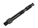 Drill America TSD12VS #12 Cobalt Very Stubby Threaded Shank Drill Bit, Overall Length 3/8