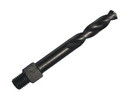 Drill America TSD27VS #27 Cobalt Very Stubby Threaded Shank Drill Bit, Overall Length 3/8