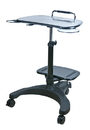 Aidata LPD009P Sit/Stand Mobile Laptop Workstation w/Shelf