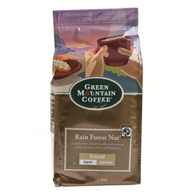 Green Mountain Coffee 6/12oz Ground Coffee Rain Forest Nut, Price/Case