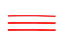 """Bedford Industries 4"""" Bag Ties Red 2000ct, 832208"""