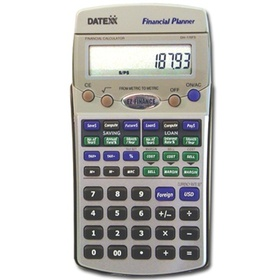 Datexx DH-170FS - EZ Financial calculator-Savings, Loans, Profit, Tax and Currency