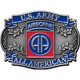 "Eagle Emblems BUCKLE-ARMY, 082ND A/B (2-1/2"")"