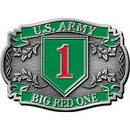 Eagle Emblems B0105 Buckle-Army, 001St Div. (3-1/8
