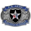 Eagle Emblems B0113 Buckle-Army, 002Nd Div. (3-1/8