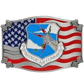 "Eagle Emblems BUCKLE-USAF, STRATEGIC AIR (2-7/16"")"