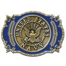"Eagle Emblems BUCKLE-USN, US ANYTIME BAB (3-1/4"")"