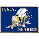 "Eagle Emblems BUCKLE-USN, SEABEES-AM.HER (3-1/4"")"