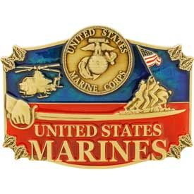"Eagle Emblems BUCKLE-USMC (3-1/2"")"