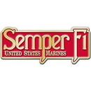 Eagle Emblems B0126 Buckle-Usmc Ega, Semper Fi (4-1/4