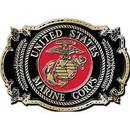 "Eagle Emblems BUCKLE-USMC, FIRST TO FGHT (3-1/4"")"