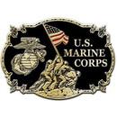 Eagle Emblems B0128 Buckle-Usmc, Iwo Jima (3-1/8