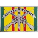 Eagle Emblems B0137 Buckle-Vietnam Vet.Rifles (3-1/4