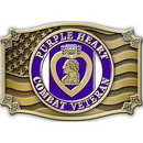 Eagle Emblems B0162 Buckle-Purple Heart, Vet (3-1/8
