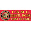 """Eagle Emblems BUMP-USMC, DEVIL DOGS (3""""X9"""")"""