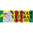 "Eagle Emblems BUMP-VIET, VETERAN 59-75 (3""X9"")"