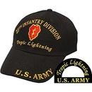 Eagle Emblems CAP-ARMY, 25TH INF.DIV. BLACK/BRASS-BUCKLE