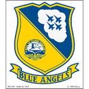 "Eagle Emblems DEC-USN, BLUE ANGELS (2-1/2""X3-1/2"")"