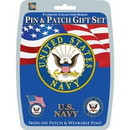 "Eagle Emblems DISP-USN (PIN & PATCH SET) (6""X6"")"