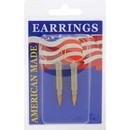 Eagle Emblems ER9601 Earrings-Bullet, 17Cal (Nickel)