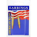 Eagle Emblems ER9602 Earrings-Bullet, 17Cal (Brass)