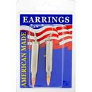 Eagle Emblems ER9648 Earrings-Bullet, 223Cal (Nickel)