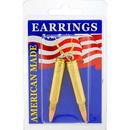 Eagle Emblems ER9649 Earrings-Bullet, 223Cal (Brass)