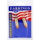 Eagle Emblems ER9650 Earrings-Bullet, 9Mm (Nickel)