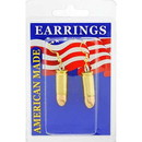 Eagle Emblems ER9651 Earrings-Bullet, 9Mm (Brass)