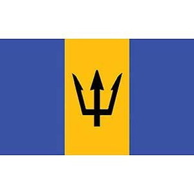 Eagle Emblems FLAG-BARBADOS (3ftx5ft)