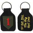 Eagle Emblems KC0059 Key Ring-Army, 001St Inf. Embr. (1-3/4