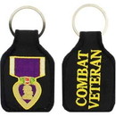 "Eagle Emblems KEY-MILT, PURPLE HEART EMBR. (1-3/4""X2-3/4"")"
