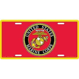 Eagle Emblems LIC-USMC, LOGO W/COLOR