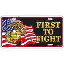 Eagle Emblems LP0552 Lic-Usmc, First To Fight (6