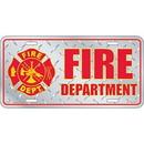 Eagle Emblems LP0671 Lic-Fire Department Logo (Diamond Plate) (6