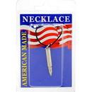 Eagle Emblems NC9401 Necklace-Bullet, 17Cal (Nickel)