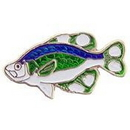 "Eagle Emblems PIN-FISH, BASS, SMALL MOUTH  (1"")"