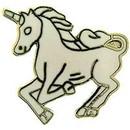 Eagle Emblems P00194 Pin-Unicorn, White, Lf (1