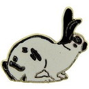 "Eagle Emblems PIN-RABBIT, CHECKER  (1"")"