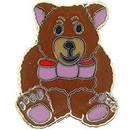 Eagle Emblems P00196 Pin-Bear, Teddy, Brown (1