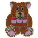 "Eagle Emblems PIN-BEAR, TEDDY, BROWN  (1"")"