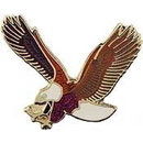 "Eagle Emblems PIN-EAGLE, FLYING  (1""), P00199"