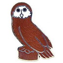 "Eagle Emblems PIN-BIRD, OWL  (1"")"