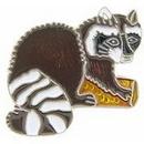 "Eagle Emblems PIN-RACCOON  (1"")"