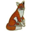 "Eagle Emblems PIN-FOX, SITTING  (1"")"