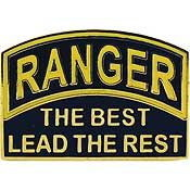 "Eagle Emblems PIN-ARMY, RANGER, THE BEST  (1"")"