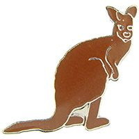"Eagle Emblems PIN-KANGAROO  (1"")"